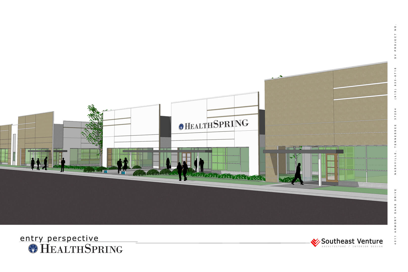 HealthSpring Rendering, Building Entry