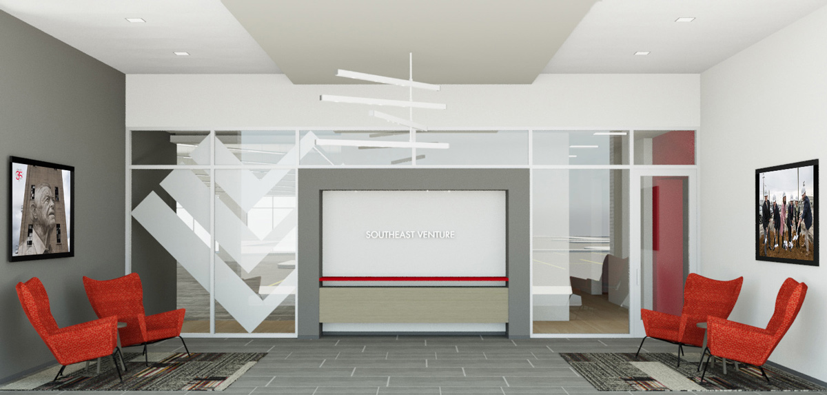 Southeast Venture office lobby rendering