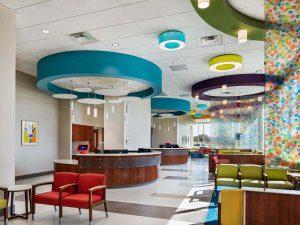 vumc childrens surgery clinics Murfreesboro, featuring a commercial interior design of an interior waiting room